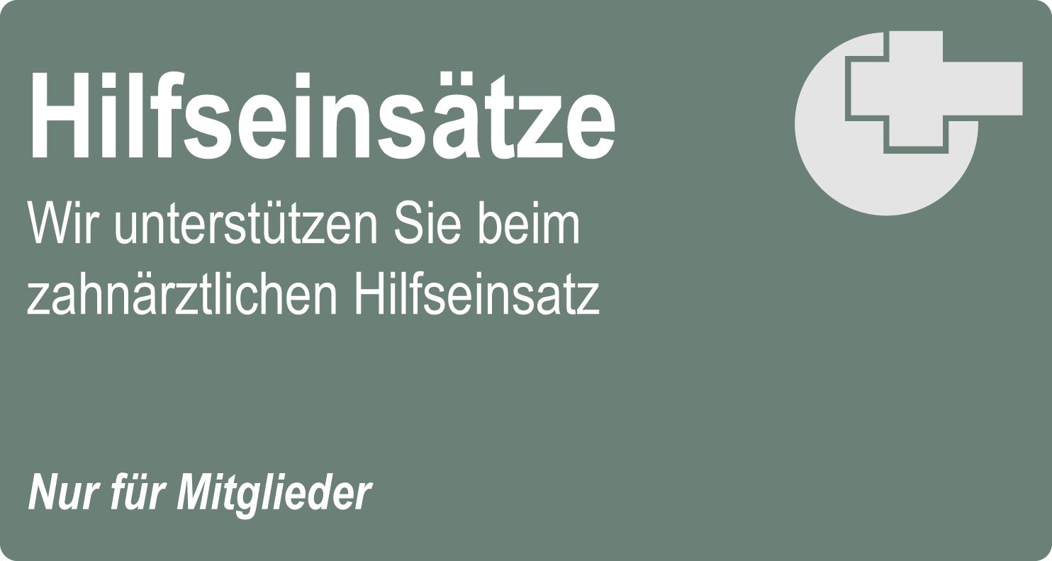 Hilfseinsätze Assistenzzahnärzte DZMB Deutscher Zahnmedizinerbund